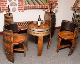 1083 Sonoma Barrel Table Set