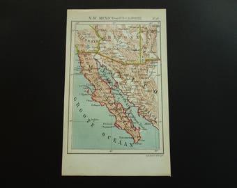Small vintage map etsy baja california map of mexico 1882 original antique dutch print of mexico la paz culiacan navojoa gumiabroncs Choice Image