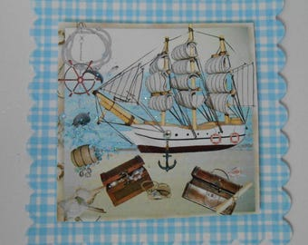 Pack 2 Galleon Ship Embellishment Toppers for cards and crafts