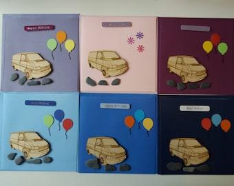 T4 Panel Van - Handmade Birthday Card (1 Card)