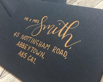 Custom Hand Lettered Envelopes // Modern Calligraphy // Hand Lettering // Wedding Invitations // Envelope Addressing // Custom Calligraphy