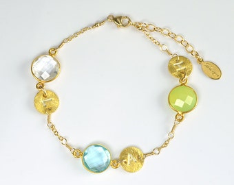 Personalized mom bracelet Birthstone bracelet, Custom Birthstone initial bracelet, custom bridesmaid bracelet, mothers bracelet grandma gift
