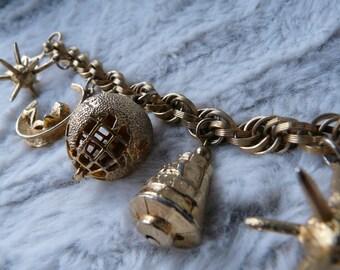 Sputnik Space Program Charm Bracelet