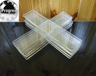 Wholesale of 10 Pcs Clear Transparent Acrylic Strips 165 mm X 35 mm
