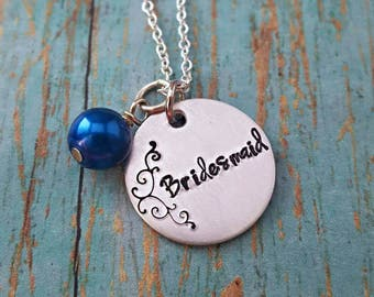 Bridesmaid - Bridesmaid Necklace - Wedding Jewelry - Bridesmaid Gift - Wedding Party - Gift for Bridesmaid - Wedding Accessories - Bridal