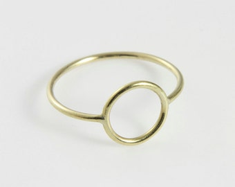 WIRE round Gold - delicate Ring from 8kt Gold