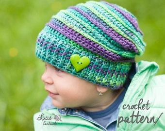 Crochet Hat PATTERN No.12 - Uni Slouchy Winter Hat, Autumn Hat, Spring Hat Crochet Pattern