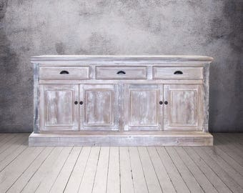 Sideboard, Buffet, Console Cabinet, Reclaimed Wood, Rustic, China Cupboard, Handmade