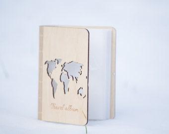 Travel album, Photo album, Personalized album, Birthday gift, Wood album, Wood photo album, Gift,Laser cut,Custom photo album,Engraved album