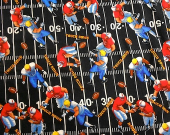 Football Players on Black Fabric