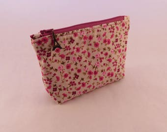 Cosmetic zipper pouch bag