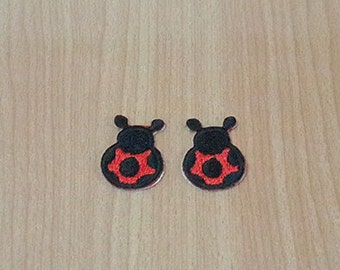 "set 2 pcs Ladybug Patch Cartoon Patches Iron On Patch size 3/4"" x 7/8"""