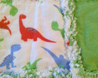 Dinosaur Burp Cloth / Changing Pad / Home from the Hospital Blanket