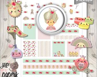 Marie Antoinette Stickers, Planner Stickers, Princess Stickers, Planner Accessories, Princess Party, Use in Erin Condren