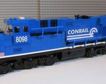 Custom Lego Train Conrail ES44ac