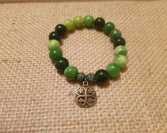 Celtic Inspired Glass Bead Bracelet