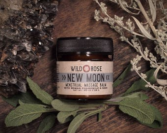 Menstrual Massage Balm NEW MOON with Chamomile and Sage - 24g // .85oz