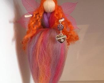 Daughter Hanging Needle Felt Fairy, Waldorf Inspired, Needle Felt Fairy