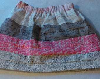 High Fashion, Handmade Ribbon Skirt - Pink and White