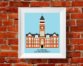PATTERN: Clemson University Tillman Hall Cross Stitch