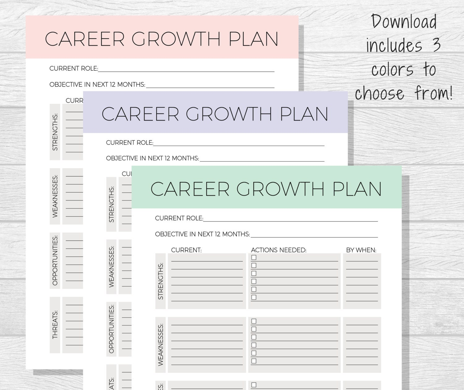 🔎zoom  Personal Career Development Plan Template