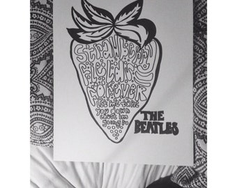 The Beatles Strawberry Fields Forever Graphic Print