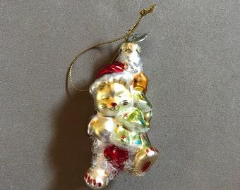 Vintage blown glass ornament