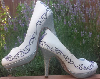 Custom Celtic Wedding Shoes
