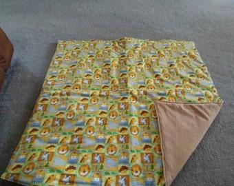 Lion giraffe and monkey blanket