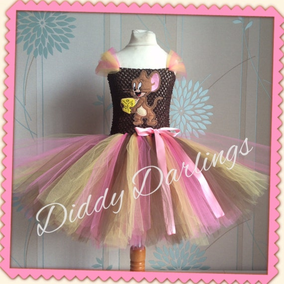 Tom and Jerry Inspired Handmade Tutu Dress. All Sizes Fully Customised