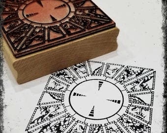 Lament Configuration (Hellraiser Puzzle Box) Mounted Rubber Stamp