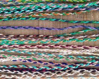 Three Color - Tie On - Hemp Friendship Bracelets - Toddler to Adult sizes