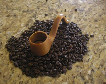 handcrafted wooden maple coffee scoop