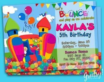 Bounce house invites Etsy