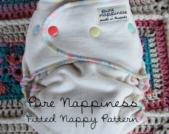 Pure Nappiness OSFM Fitted Diaper Nappy Pattern