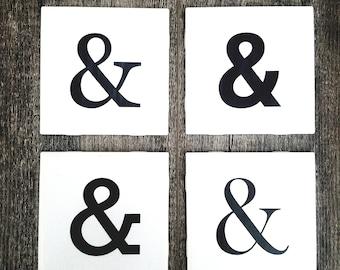 Ampersand Coasters