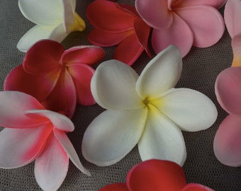 Natural Real Touch White Artificial frangipani Plumeria flower heads DIY cake decoration