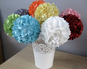 Hand Crafted Single Paper Hydrangeas  Can be made in any colour choice **Free P&P**