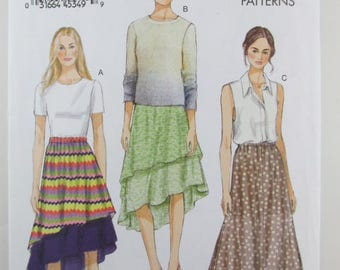 Vogue 8981 Misses' Skirts, Sizes Xs-S-M, Sewing Pattern, Uncut