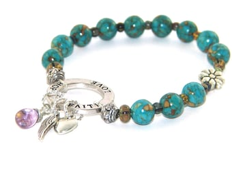 Recovery Bracelet - Sobriety Jewelry - Faith Hope & Love