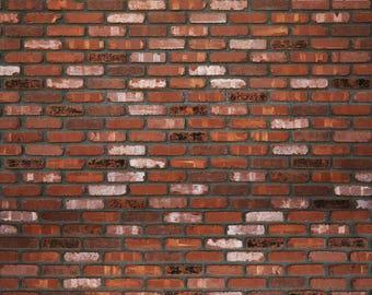 Rich Brick - Exclusive - Vinyl Photography Backdrop Floordrop Prop