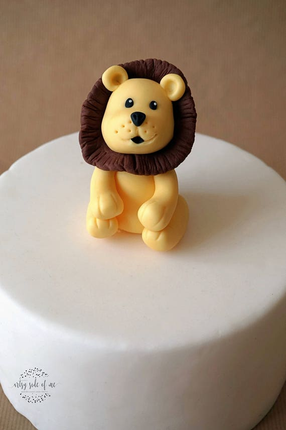 Fondant lion cake topper lion topper safari animals