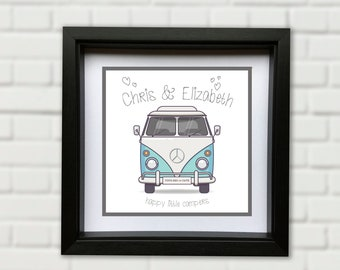 Custom Personalised VW Camper Picture - Gift. Wedding. Dubfest.