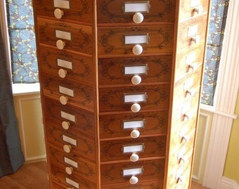 wooden parts bin rotating screw and bolt cabinet
