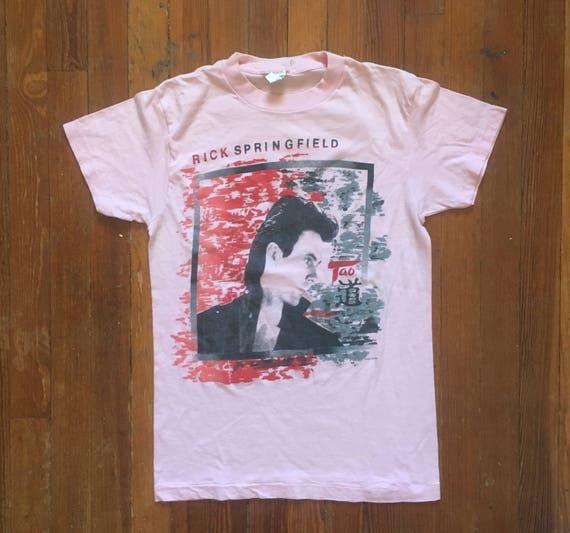vintage Rick Springfield 80's small t shirt w3wWv9h