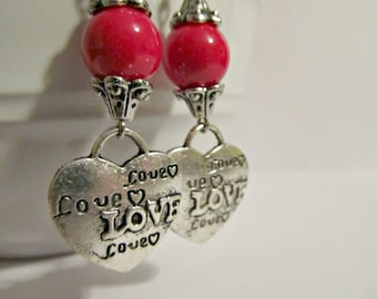 "Earrings - Handmade Charming Style for Valentine's Day ""I Say it's Love....Just Love"""