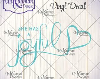 DIY Iron On Heat Transfer Vinyl She Has A Joyful Heart Decal