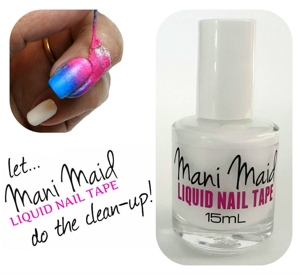 Liquid Nail Tape Mani Maid Peel Off Nail Polish Remover Latex