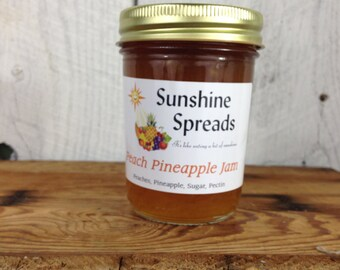 Peach Pineapple Jam, 8 Ounce Jar, Amish Made