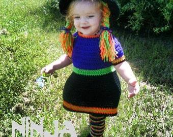 Lil' Witch Costume Crochet Pattern ~ Halloween